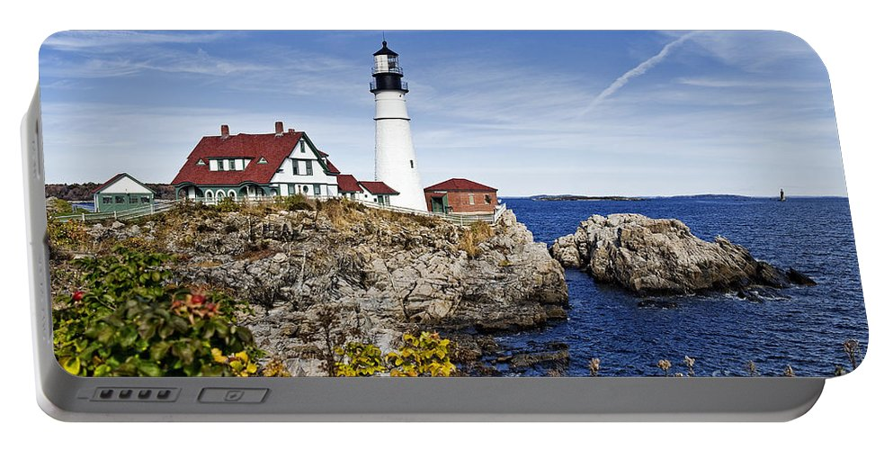 Cape Elizabeth Portable Battery Charger featuring the photograph Portland Head Lighthouse by John Greim