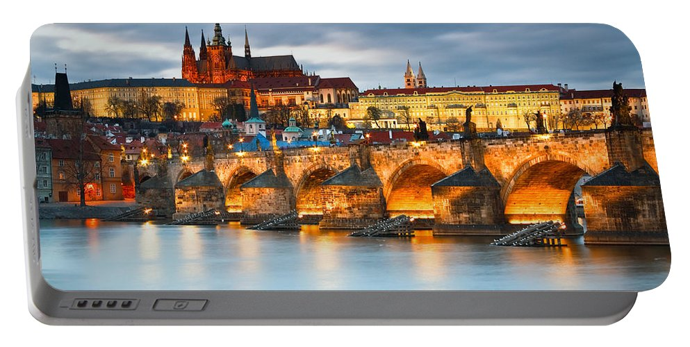 Central Europe Portable Battery Charger featuring the photograph Prague Castle. by Milan Gonda