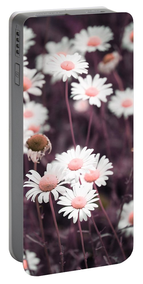 Flowers Portable Battery Charger featuring the photograph Purple Rain by The Artist Project