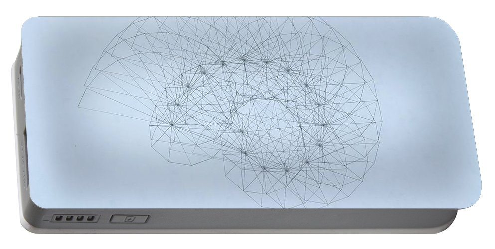 Jason Padgett Portable Battery Charger featuring the drawing Quantum Nautilus by Jason Padgett