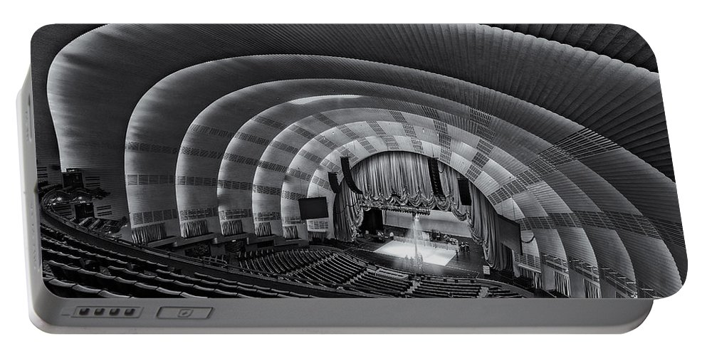 Radio City Music Hall Theatre Portable Battery Charger featuring the photograph Radio City Music Hall Theatre by Susan Candelario