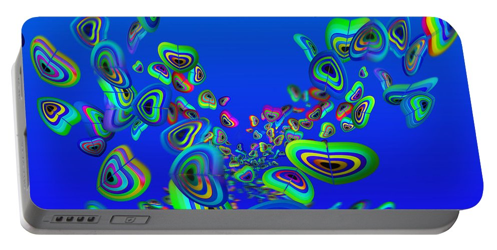 Aquarium Art Portable Battery Charger featuring the painting Rainbow Blue by Charles Stuart