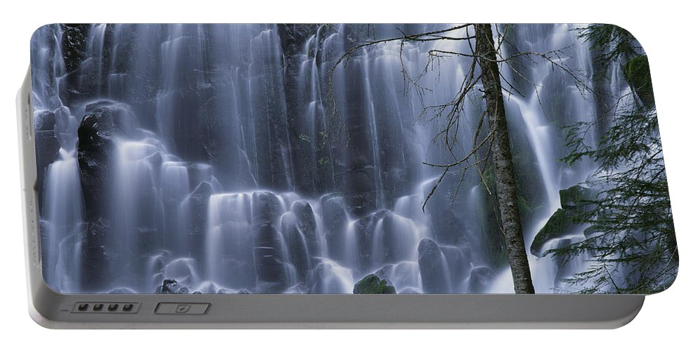 Americana Portable Battery Charger featuring the photograph Ramona Falls by Jim Corwin