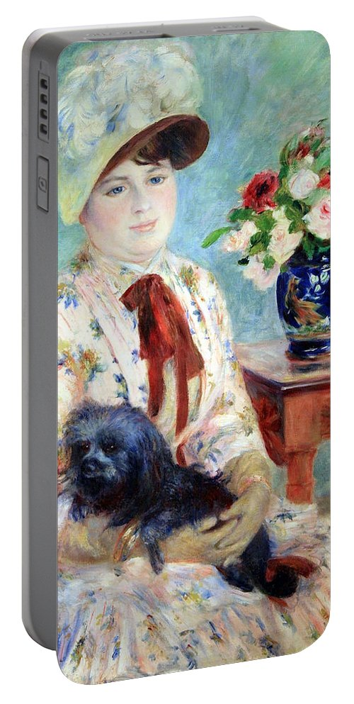Mlle Charlotte Berthier Portable Battery Charger featuring the photograph Renoir's Mlle Charlotte Berthier by Cora Wandel