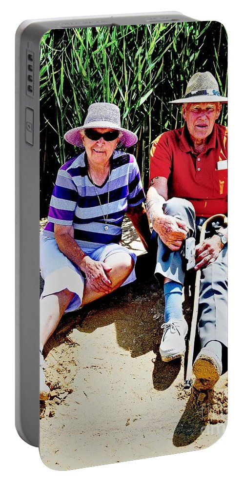 People Portable Battery Charger featuring the digital art Rest Stop At Coorong by Tim Richards