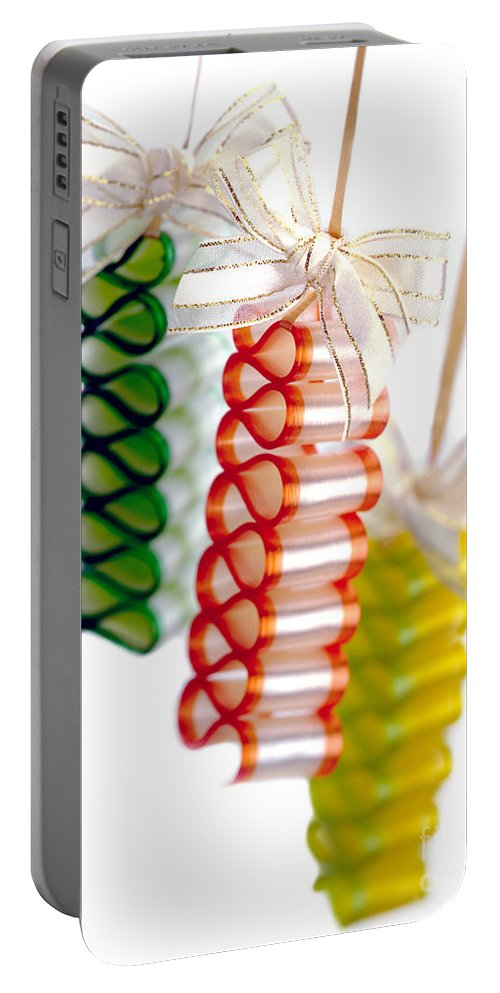 Iris Holzer Richardson Portable Battery Charger featuring the photograph Ribbon Candy Portrait by Iris Richardson