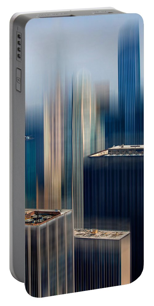 Architecture Portable Battery Charger featuring the digital art Rising Metropolis by Az Jackson