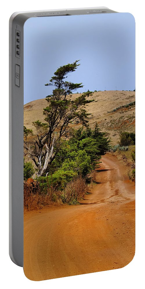 Africa Portable Battery Charger featuring the photograph Road On Hierro by Karol Kozlowski
