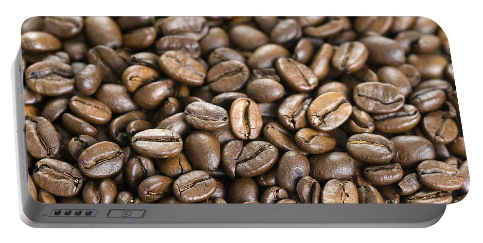Coffee Beans Portable Battery Charger featuring the photograph Roasted Coffee Beans by Lee Avison