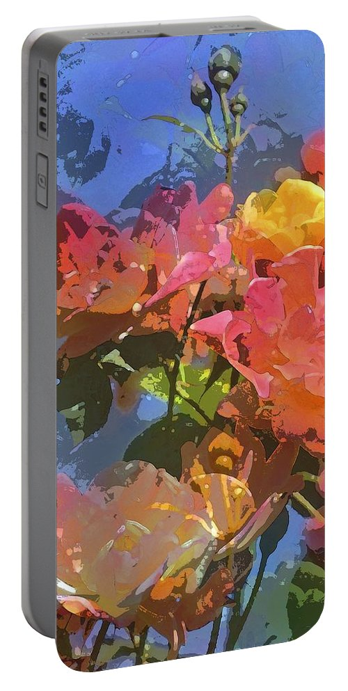 Floral Portable Battery Charger featuring the photograph Rose 208 by Pamela Cooper