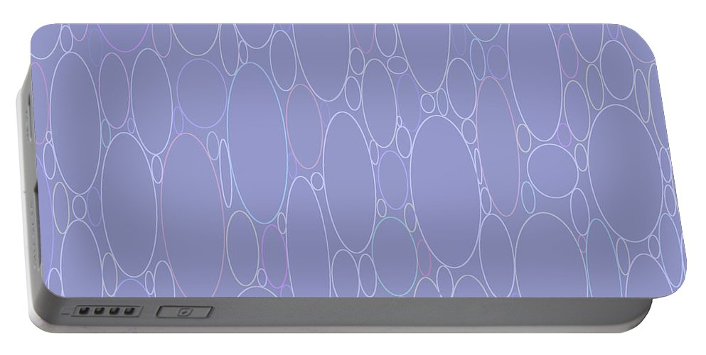 Elliptical Portable Battery Charger featuring the digital art Rounded Color Variety by Lee Serenethos
