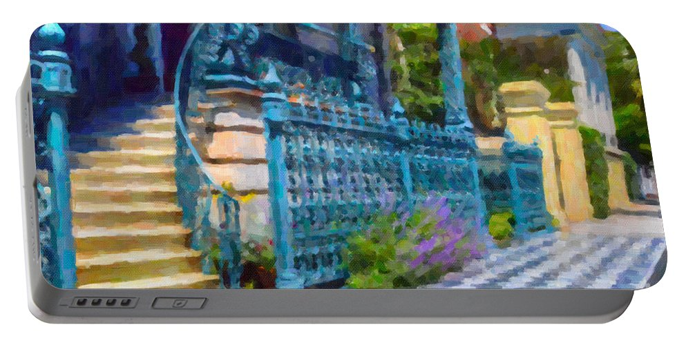John Rutledge House Inn Portable Battery Charger featuring the digital art Rutledge House Inn by Dale Powell