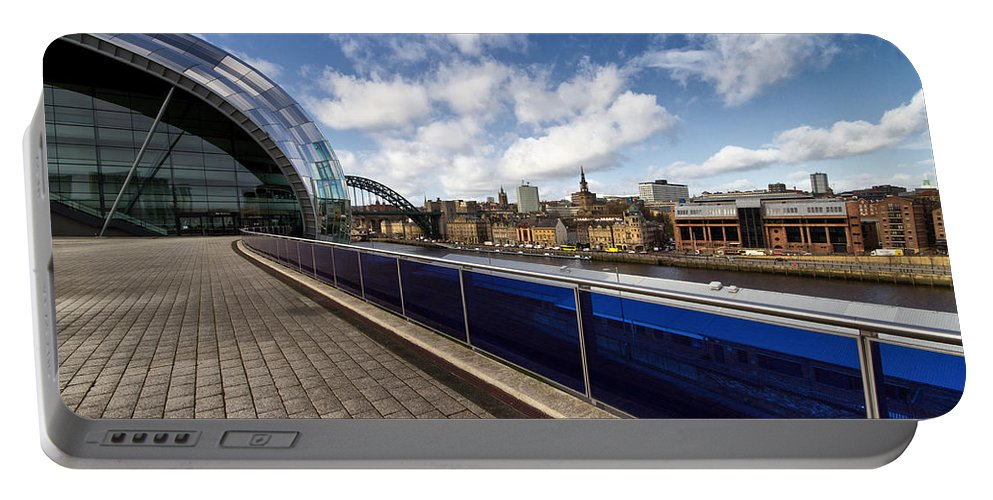 Sage Portable Battery Charger featuring the photograph Sage Gateshead And Newcastle Skyline by David Pringle