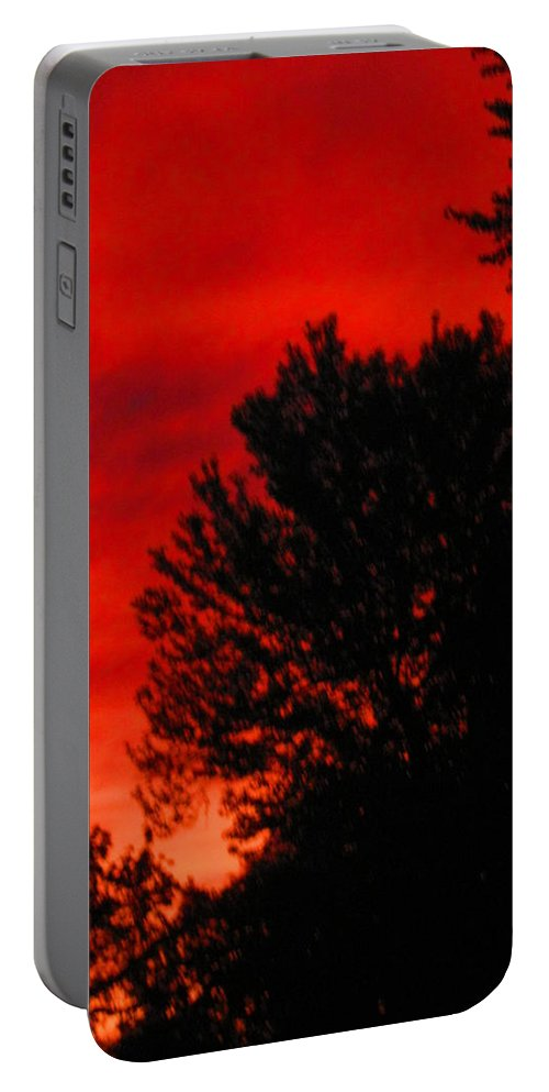 Sunset Portable Battery Charger featuring the photograph Sailors Delight by Samantha Storment