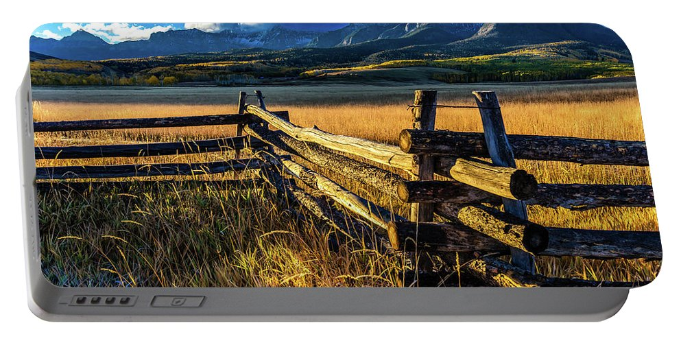Photography Portable Battery Charger featuring the photograph San Juan Mountains In Autumn by Panoramic Images