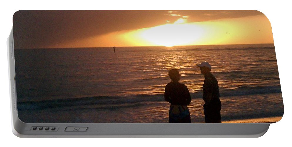 Sunset Portable Battery Charger featuring the photograph Sarasota Sunset by Gary Wonning