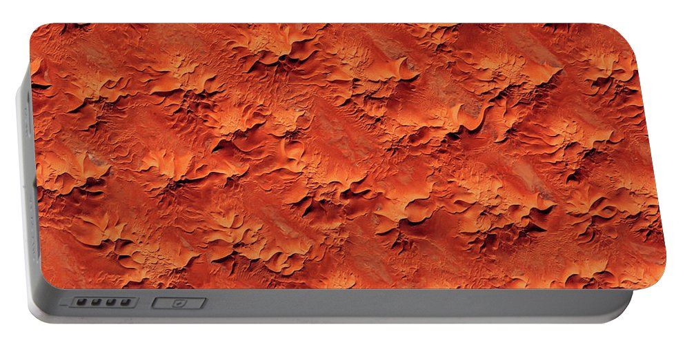 Photography Portable Battery Charger featuring the photograph Satellite View Of Murzuk Desert, Libya by Panoramic Images