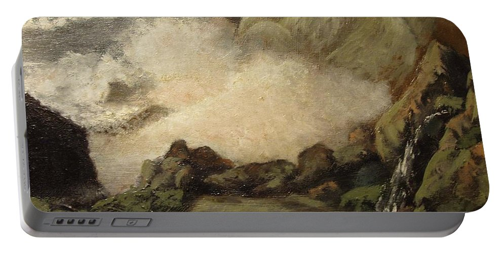 Seascape Portable Battery Charger featuring the painting Seascape by Tomas Castano