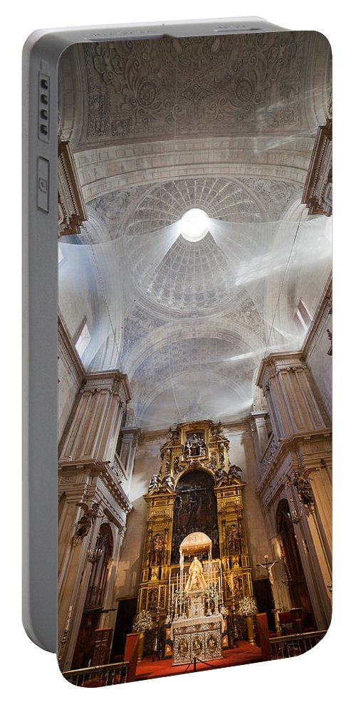 Seville Portable Battery Charger featuring the photograph Seville Cathedral Interior by Artur Bogacki