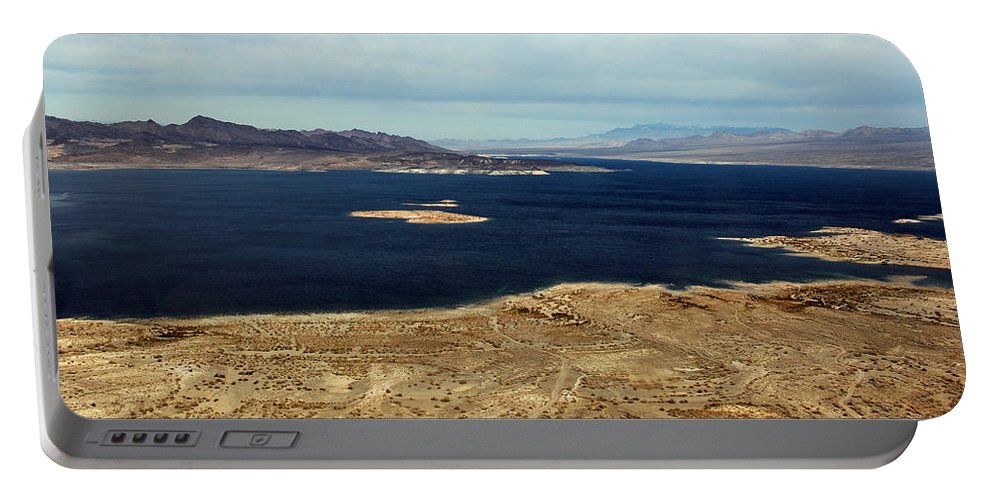 Lake Mead Portable Battery Charger featuring the photograph Shades Of Blue by Debbie Oppermann