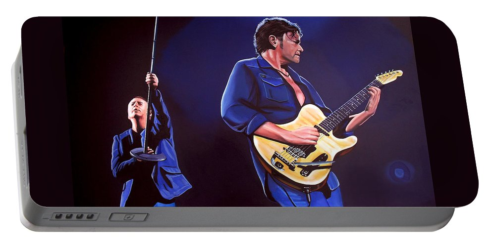 Simple Minds Portable Battery Charger featuring the painting Simple Minds by Paul Meijering