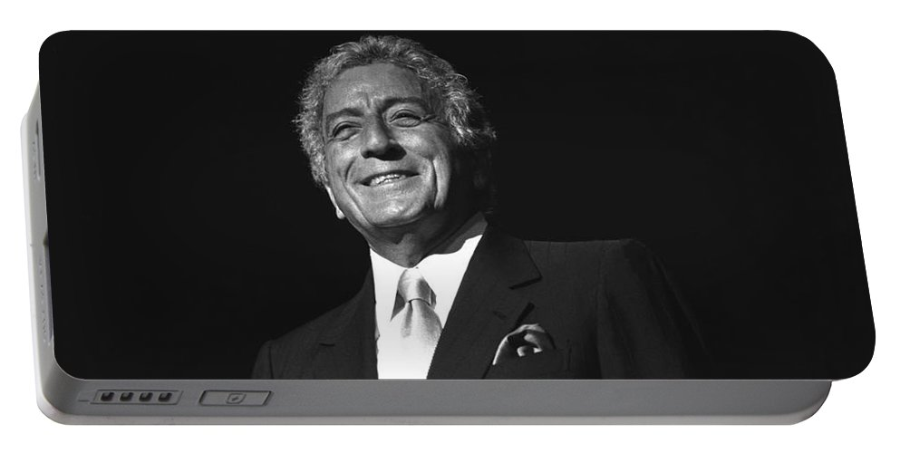 Legend Portable Battery Charger featuring the photograph Singer Tony Bennett by Concert Photos