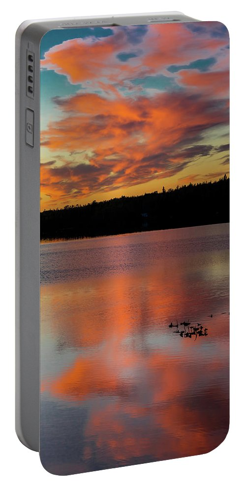 Photography Portable Battery Charger featuring the photograph Skilak Lake, Alaska, The Aleutian by Panoramic Images