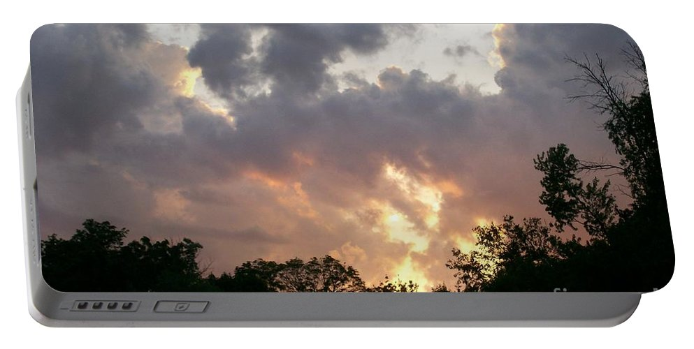 Portable Battery Charger featuring the photograph Sky Drama by Laurie Eve Loftin