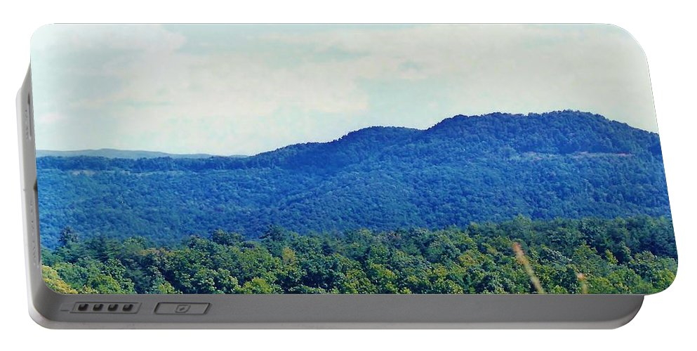 Tree Portable Battery Charger featuring the photograph Smoky Mountains by D Hackett