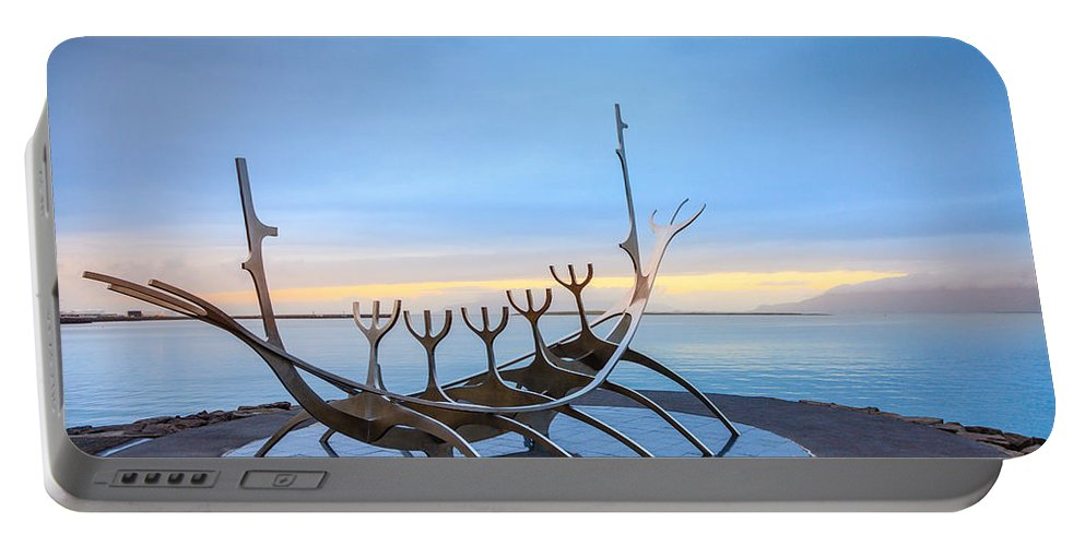 Europe Portable Battery Charger featuring the photograph Solfar Sun Voyager by Alexey Stiop