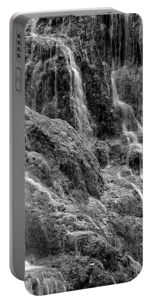 Zaragoza Province Portable Battery Charger featuring the photograph Spain, Aragon, Waterfall On Grounds by David Santiago Garcia