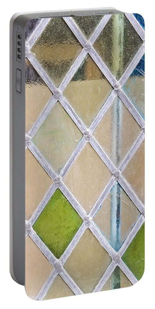Antique Portable Battery Charger featuring the photograph Stained Glass Window by Tom Gowanlock