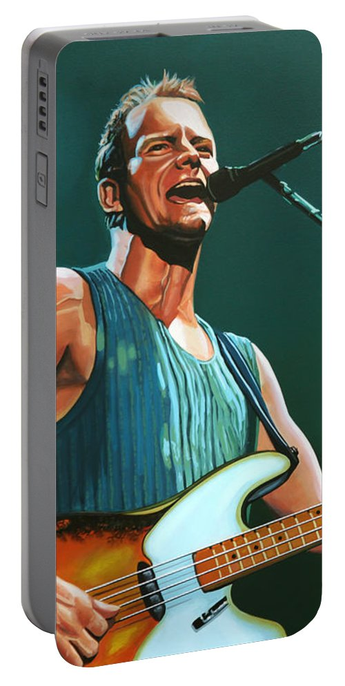 Sting Portable Battery Charger featuring the painting Sting by Paul Meijering