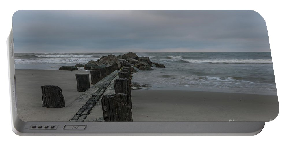 Folly Beach Portable Battery Charger featuring the photograph Storm Clouds Brewing by Dale Powell