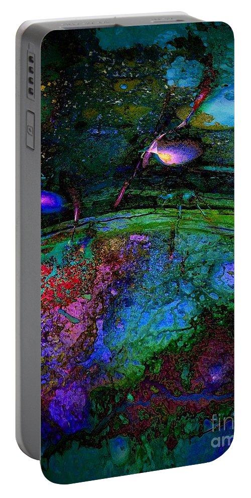 Strange Portable Battery Charger featuring the digital art Strange Dream by Klara Acel