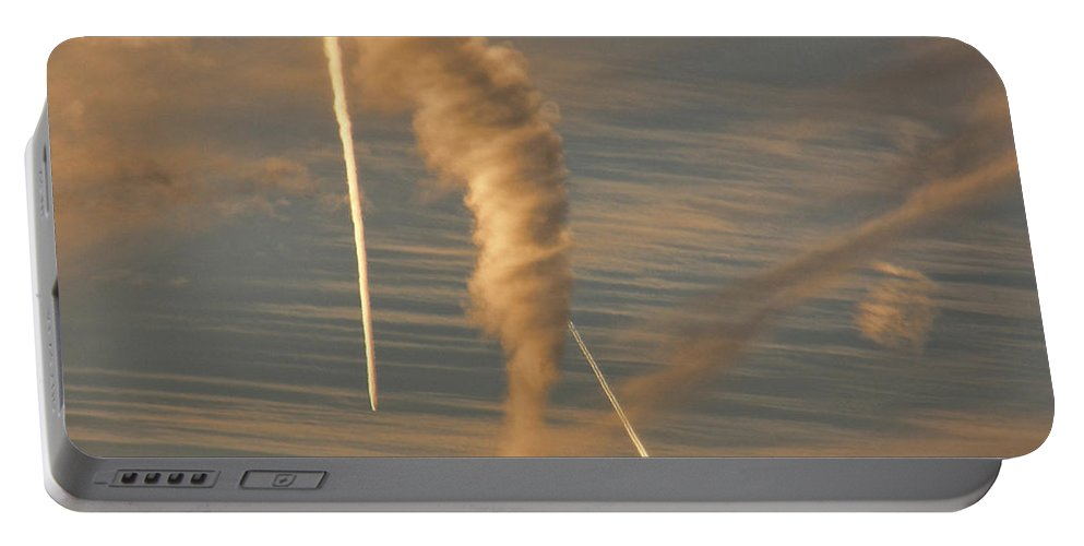 Tornado Portable Battery Charger featuring the photograph Strange Skies by Shannon Story