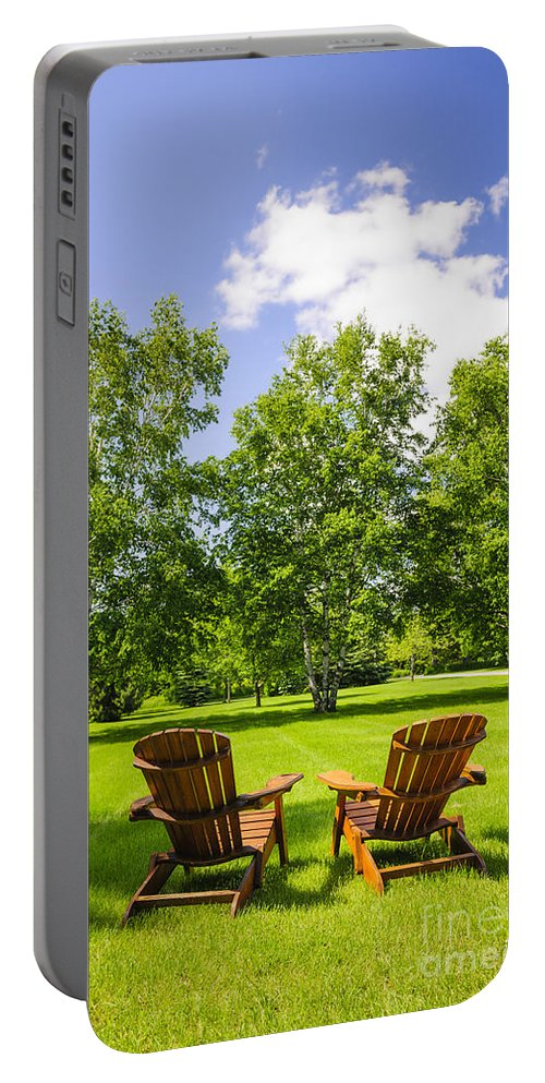 Chairs Portable Battery Charger featuring the photograph Summer Relaxing by Elena Elisseeva
