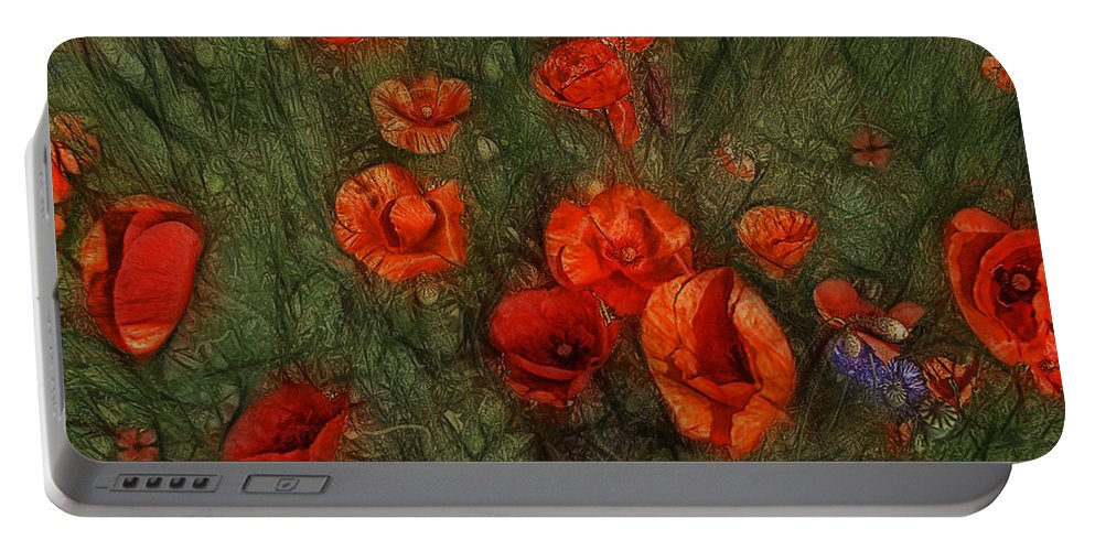 Corn Poppy Portable Battery Charger featuring the photograph Summer Wind by Joachim G Pinkawa