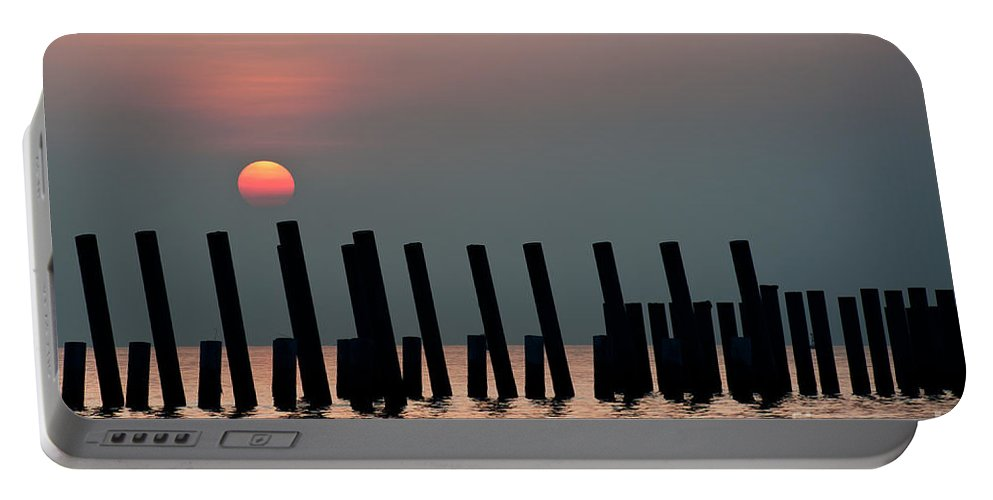 Background Portable Battery Charger featuring the photograph Sunrise by Kim Pin Tan