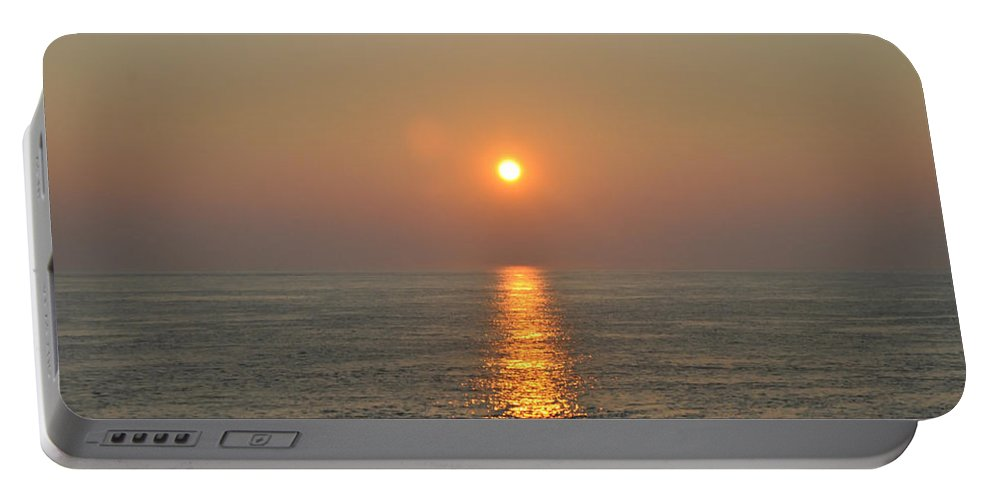 Sunrise Portable Battery Charger featuring the photograph Sunrise On The Ocean by Bill Cannon