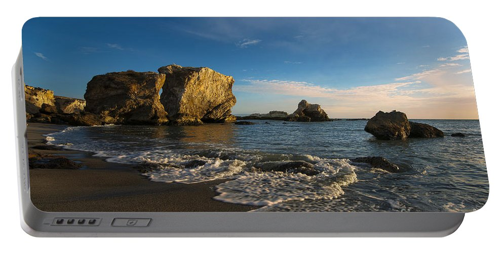 Sunset At Pismo Beach Portable Battery Charger featuring the photograph Sunset At Pismo Beach by Yefim Bam