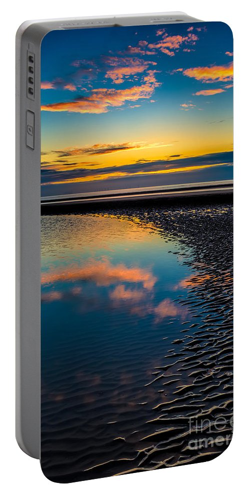 British Portable Battery Charger featuring the photograph Sunset Reflections by Adrian Evans