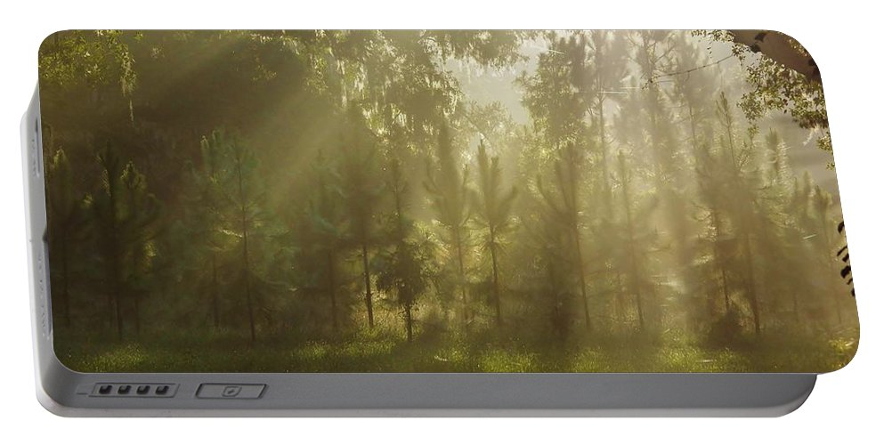 Sunshine Portable Battery Charger featuring the photograph Sunshine Morning by D Hackett