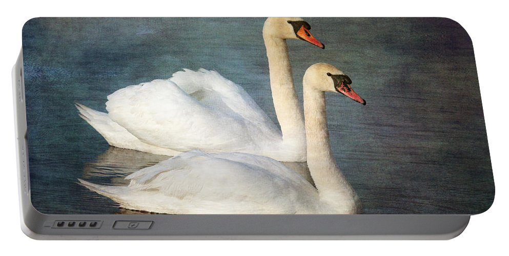 Mute Swan Portable Battery Charger featuring the photograph Swan by Chris Smith