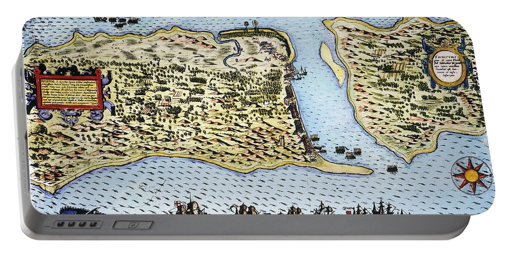 1586 Portable Battery Charger featuring the photograph Taking Of St. Augustine by Granger
