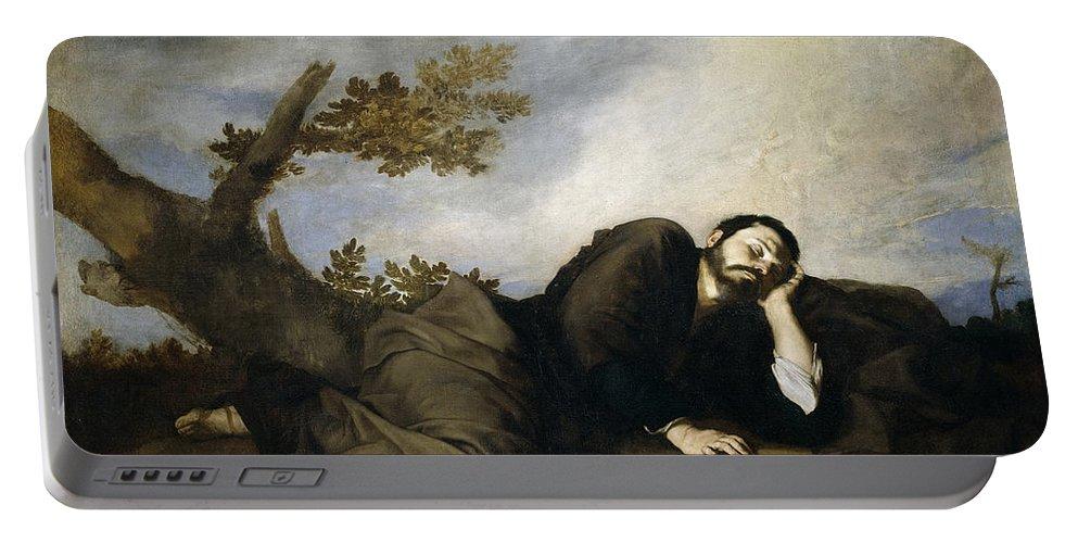 Jusepe De Ribera Portable Battery Charger featuring the painting Jacob's Dream by Jusepe de Ribera