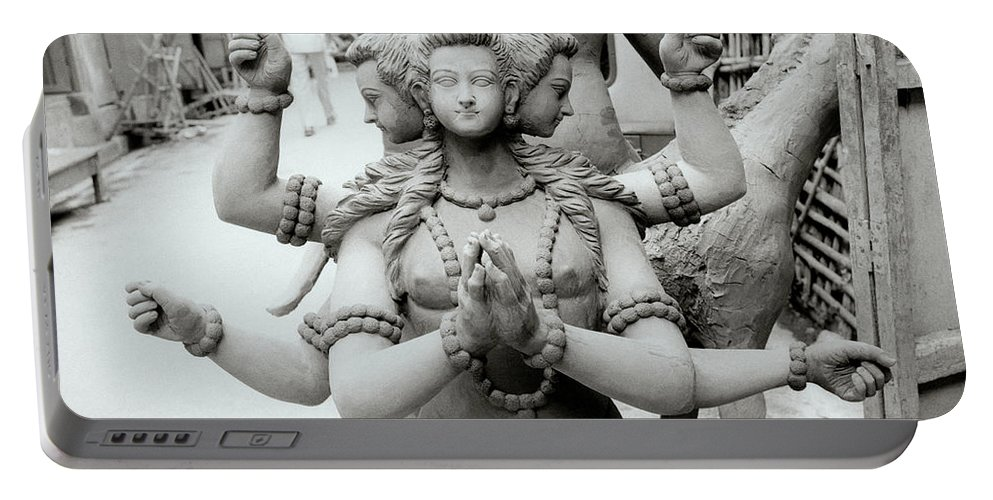 Woman Portable Battery Charger featuring the photograph The Deity by Shaun Higson