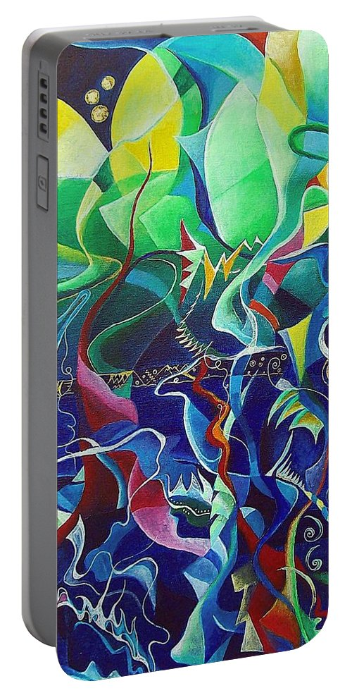 Darius Milhaud Portable Battery Charger featuring the painting the dreams of Jacob by Wolfgang Schweizer