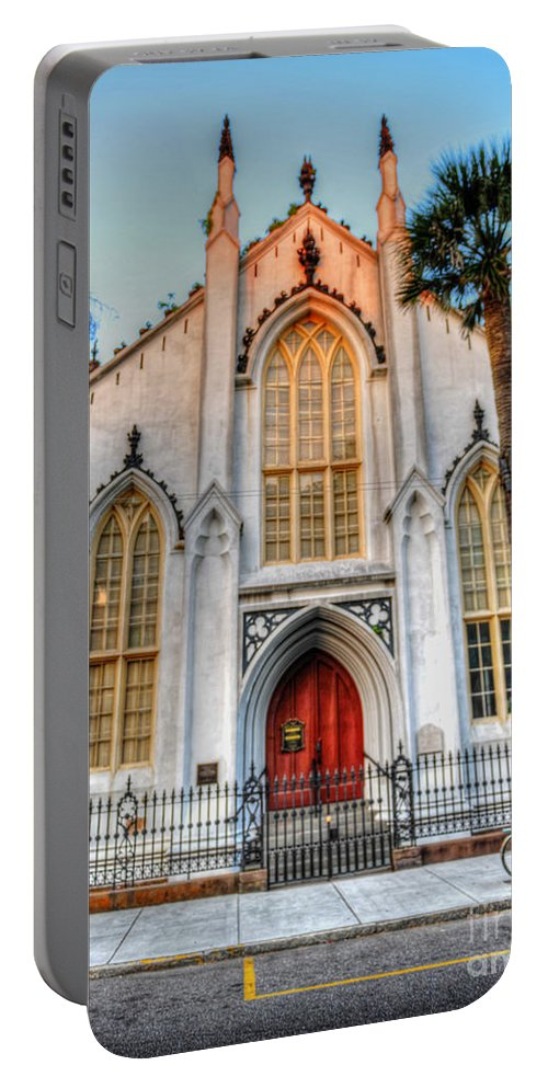 French Huguenot Portable Battery Charger featuring the photograph The French Huguenot Church by Dale Powell