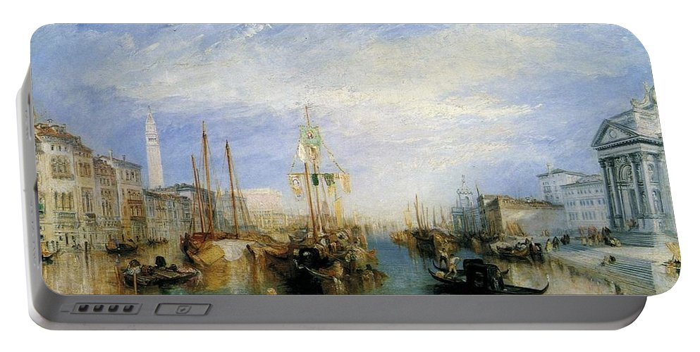 1835 Portable Battery Charger featuring the painting The Grand Canal by JMW Turner